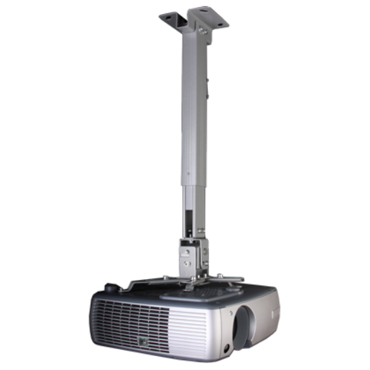 Funscreen ceiling mount length 430-650mm WHITE